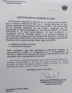 certificado acuerdo