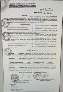 decreto nombramiento
